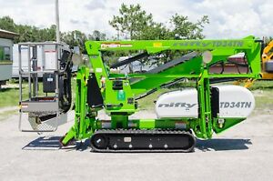 Nifty Td34t Narrow Track Drive Boom Lift 40 Work Height brand New 2020s In Fl