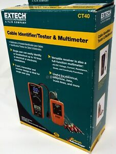 Extech Ct40 Cable Identifier tester Kit brand New