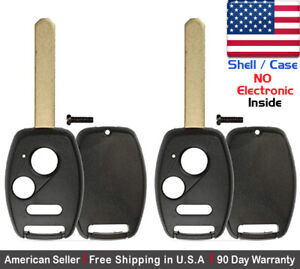 2x New Replacement Remote Control Key Fob Case For Honda Accord Crv Crz Shell