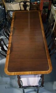 Stickley Colonial Williamsburg Duncan Phyfe Mahogany Dining Table W 2 Leaves