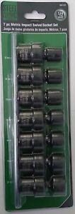 Steel Vision Tools 58102 7pc Metric Impact Swivel Socket Set 1 2 Drive