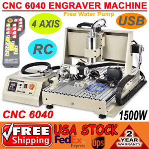 3 4 Axis 1 5kw Usb Cnc Router 6040 Engraver Metal Cut Mill Drill Machine With Rc