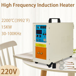 30 100 Khz 15 Kw 2200 3992 220v High Frequency Induction Heater Furnace