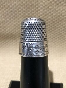 Vintage Simons Brothers Sterling Silver Thimble Size 10