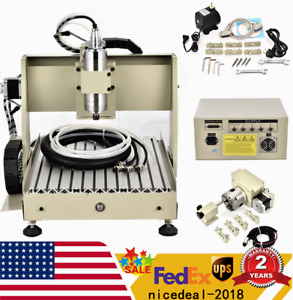 4 Axis 3040 Router Engraver Engraving Machine Ballscrew 800w Spindle Motor Us