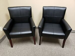 Black High End Guest Reception Chairs Nearly New Condition