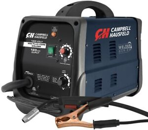 Campbell Hausfeld Mig flux Core Welder Wire Feed 120 Amp Output W Accessories