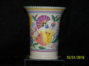 Poole Studio Art Pottery Art Deco C1927 1938 Hand Formed Hand Painted Vase