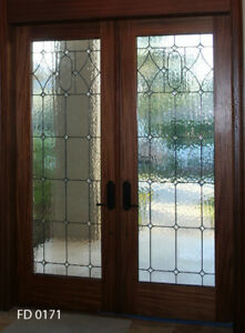 Beautiful Leaded Glass Interior Designer Door Fd0171