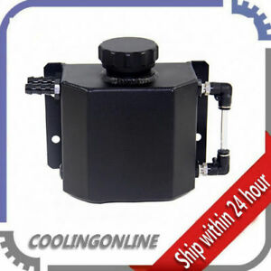 Universal 1l Aluminum Coolant Radiator Overflow Recovery Water Tank Bottle Cl