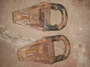 Pair Oem 97 03 Ford F150 F 150 Tow Hooks Recovery Factory Set With Bolts Bracket