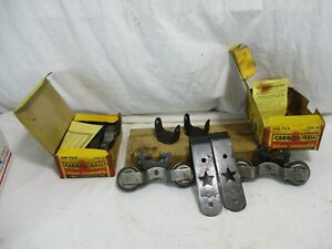 Vintage Starline Cannon Ball Barn Door Rollers And Hangers New Old Stock In Box