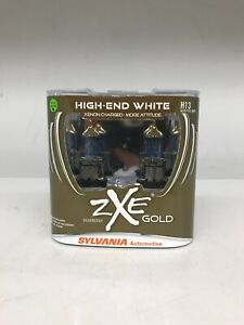 Sylvania Silverstar Zxe Gold High End White H13 Set Of 2 New Sealed Bulbs