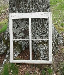 Old Vintage Antique Shabby Chic Window Frame 4 Pane Farmhouse Wedding Barn