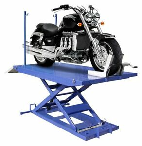High Rise 1 500 Lb Motorcycle Lift W Vise Side Extensions Free Shipping