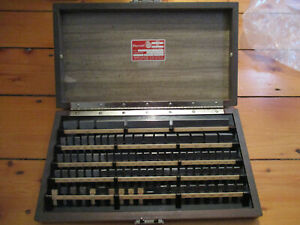 Starrett Webber Micro Accurate 85 Pc Steel Square Gage Blocks Model Rs84a1 Used