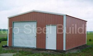 Durobeam Steel 20x24x10 Metal Rigid Frame Clear Span Garage Building Kit Direct