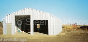 Durospan Steel 25x50x16 Metal Garage Shop Rv Boat Storage Building Kit Direct