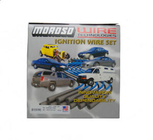 Moroso Spark Plug Wire Set 9880m Mag Tune Race 8 0mm Black 90 Hei