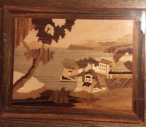Inlaid Wood Marquetry Picture 11 X 9