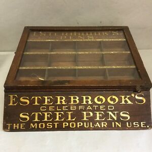 Country Store Display Case For Esterbrook S Pens 14 W