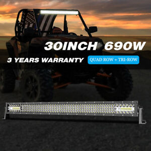 960w 30inch Osram Led Light Bar 4 row Combo Beam Bumper 32 34 For Pickup 4x4wd