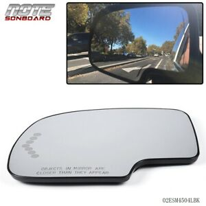 Heated Mirror Glass Power Turn Signal Driver Side Fit For Chevy Gmc Cadillac