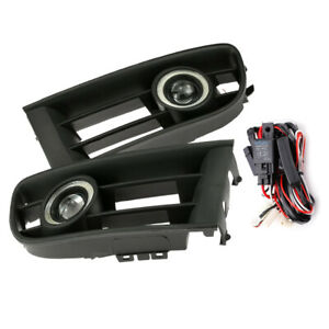 Fog Light Grille Led Angel Eyes With Wiring Fit For Vw Polo 01 04