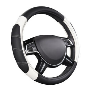 Carpass New Arrival White Color Comfortable Pu Leather Car Steering Wheel Covers