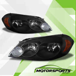 2006 2013 Chevy Impala 2006 2007 Chevy Monte Carlo Black Headlights Pair
