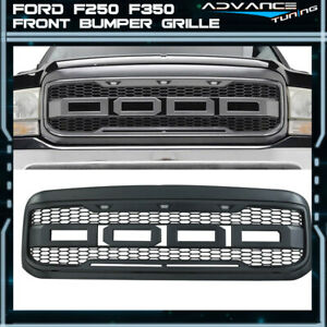 For 99 04 Ford F250 F350 New Raptor Style Front Bumper Grille Hood Package Abs