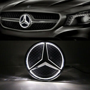 Illuminated Car Front Led Grille Logo Emblem Badge Light For 06 13 Mercedes Benz