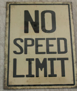 Vintage Style No Speed Limit Metal Signs Man Cave Garage Decor Gas Station 1