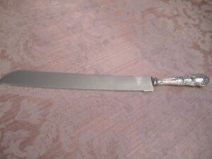 Vintage Sheffield Silver Plate Stainless Steel Carving Knife
