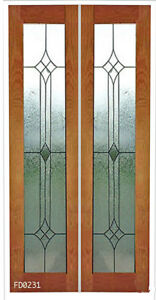 Leaded Glass Designer Interior Doors 1 Pr 24 X 80 Interior Doors