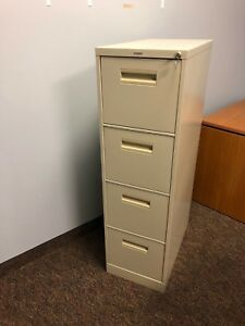 4dr Letter File Cabinet By Hon Office Furniture In Putty W Lock