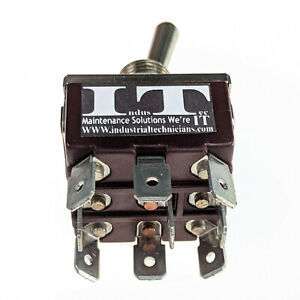 Industec 20a 12v Toggle Switch Tpdt 2 Pos Maintained 9 Pin Quick Plug Latching