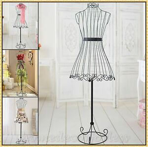 Vintage Metal Wire Dress Form Mannequin Boutique Store Display Stand Decorative