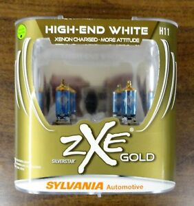Sylvania Silverstar Zxe Gold High End White H11 Set Of 2 New Bulbs Ships Free