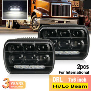 2pcs Led Headlights For International Ihc Headlight Assembly 9200 9400i 9900