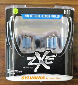 Sylvania Silverstar Zxe H11 Pair Set Headlight Bulbs Xenon Fueled Free Shipping