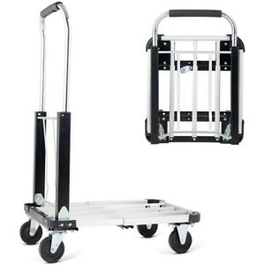 Aluminium Hand Truck Platform Foldable Cart Folding Dolly Heavy Duty Expandable