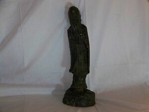 Chinese Ming Dynasty C16th 17thc Large Bronze Statue Sculpture Of Immortality