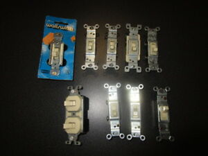 Vintage Leviton Other 120 Vac Ivory Wall Toggle Switches Set Of 9 Pre owned