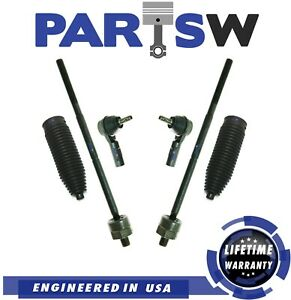 2005 2006 2007 2008 2009 2010 Ford Mustang Inner Outer Tie Rods W Boot Kit