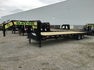 30ft Gator Non Cdl Gooseneck Hotshot Trailer With Disc Brakes