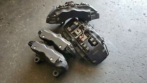Porsche Cayenne Audi Q7 Calipers Brembo 18zr Front Rear Oem Good Set Good Pads