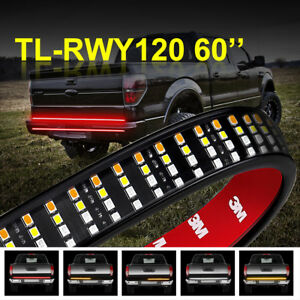 60 Inch Quad row Led Truck Tailgate Light Bar Strip Red white yellow Waterproof