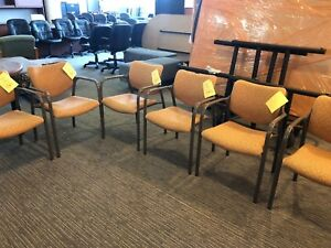 Lot Of 6 Guest Side Lobby Chairs By Herman Miller Office Furniture