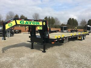 30 10 Gator Gooseneck Hot Shot Hydraulic Dovetail Trailer With Air Ride